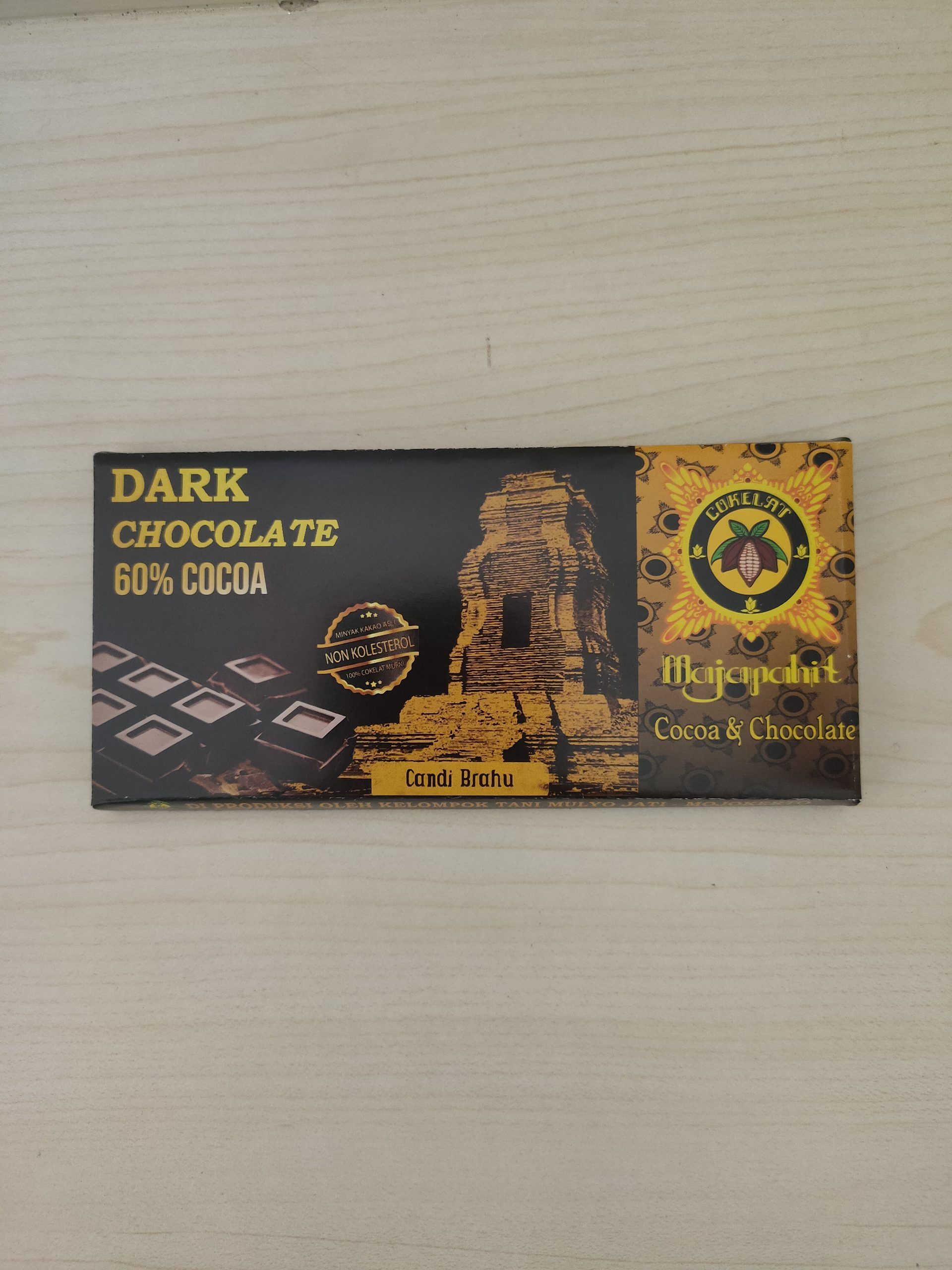 Dark Chocolate 60% 48 Gr Cokelat Majapahit